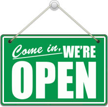 We´re Open